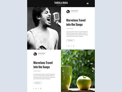 Tabula Rasa blog website blog post blog wordpress theme website design wordpress web design