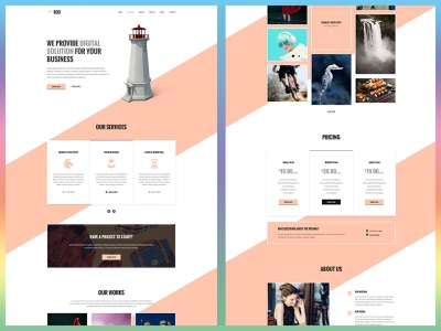 Roo - One Page Agency Template one page one page design business agency agency website web design website design