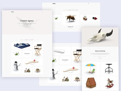 Minimal Portfolio Web Design agency web portfolio portfolio website design web design