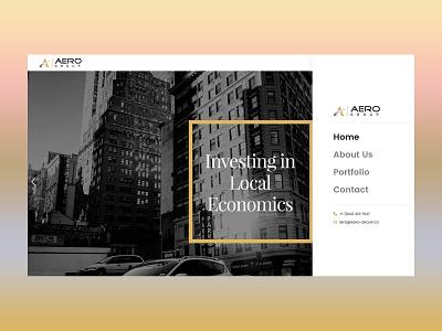 Aero group: Web Design business portfolio design business agency agency website wordpress website design web design