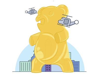 Gummy Bear Godzilla  godzilla bear gummy