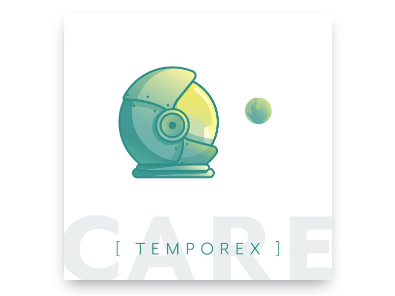 Care — Temporex helmet earth music album astronaut space lighthouse london temporex care