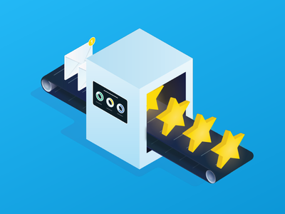 Request Reviews reputation rating star engage automate email request review conversion
