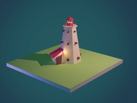 Lighthouse Model blender3d model building lighthouse modeling blender 3d illustration illustration 3d