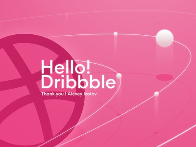 Hello Dribbble ! pink planet space orbit dribbble hello