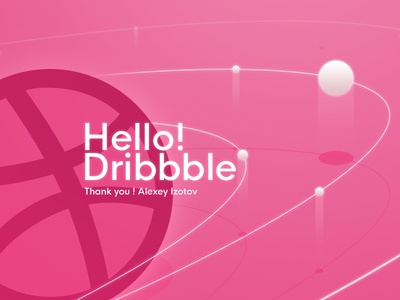 Hello Dribbble ! pink planet space orbit dribbble hello