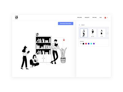ITG.Digital custom web story itg.digital itg color hover select library people composition illustrator builder interaction platform design illustration website animation app