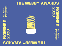 ITG.Digital is  nominated on Webby Awards design announcement banner poster award winning motion dog animation dog spring animation spring animation nomination award webby itg.digotal itg