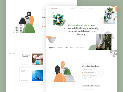 RYU project store storecommerce retail amazon nature minimal service homepage banner landing agency ecommerce