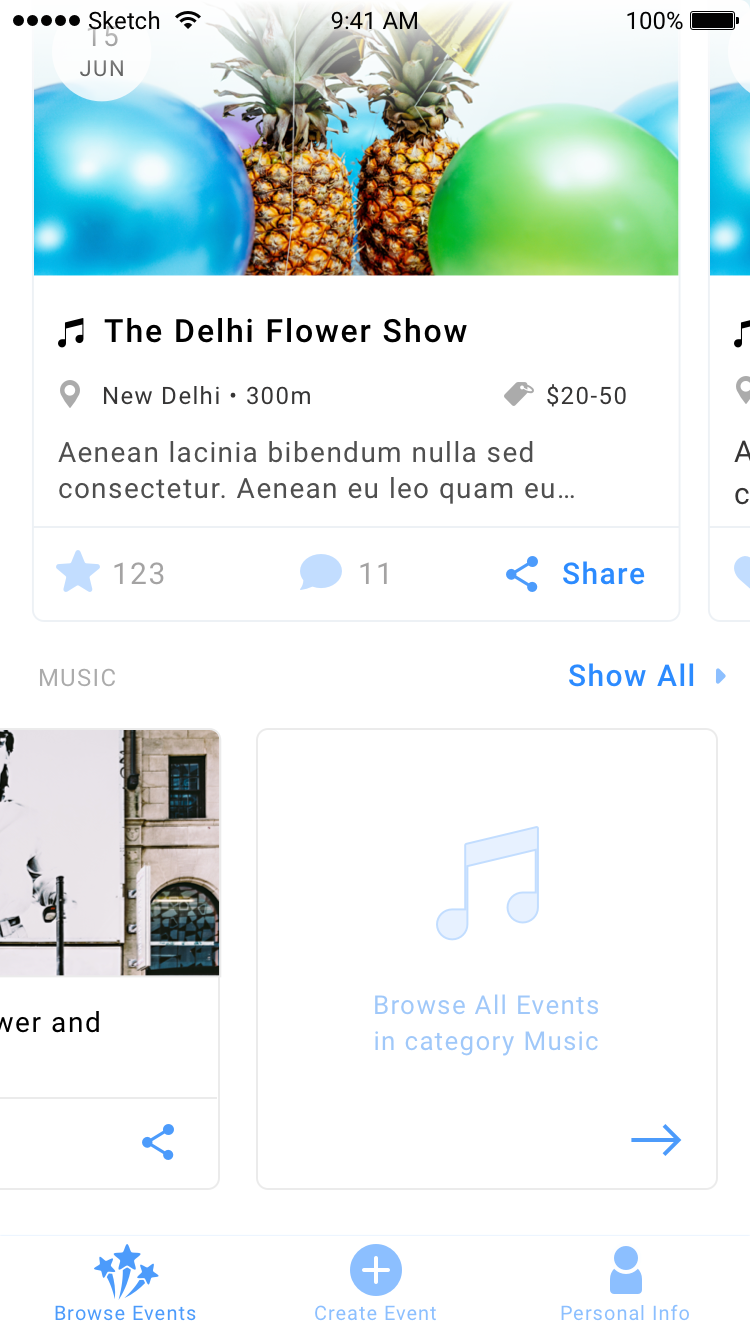 1.6 browse events   horizontal scroll last item