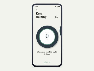 AI Eye Training APP artificial intelligence character ai game healthcare gymnastic gym exercises fitness progress chart home timer training eyes tracking eye eyes animation ios app