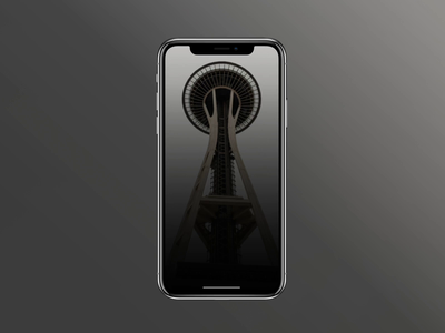 Space Needle App spac needle expirience splash gallery explore code qr code qr scanner scan recording record counter timer card application mobile ios animation app