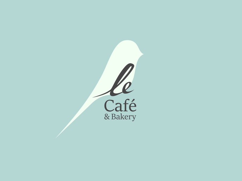 Le Cafe coffee cofe design illustration vector typography branding brand logotype logo