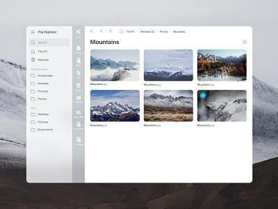 File Explorer Lite fluent design fluent icon windows10 microsoft windows file explorer file manager uidesign design userinterface ux ui