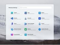 Windows Lite Concept - Settings