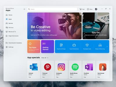 Microsoft Store Redesign concept redesign microsoft windows10 windows icons icon design icon design uxdesign uidesign userinterface ux ui