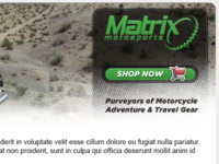 Matrix Motosports Newsletter Header