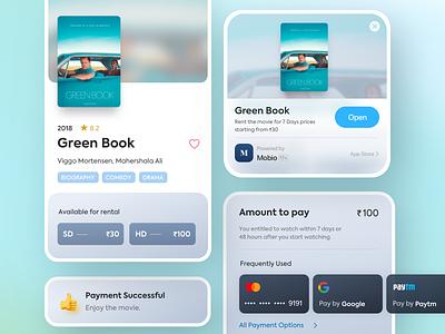 Rent A Movie app clip appclip sd rating ux rent movie app saurabhuxd india