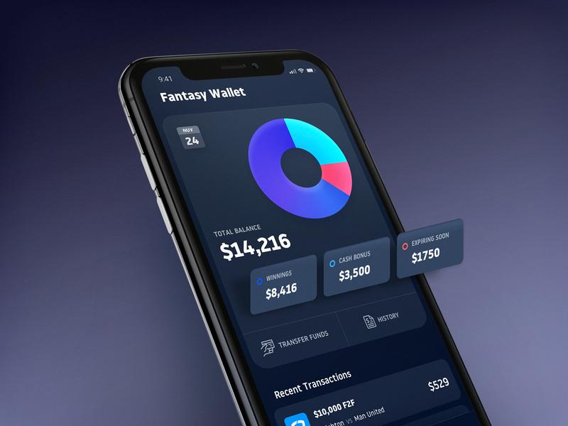 Fantasy Sports Wallet betting fantasy sports application india app design saurabhuxd ui app
