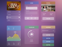 Transparent UI kit - Free Psd