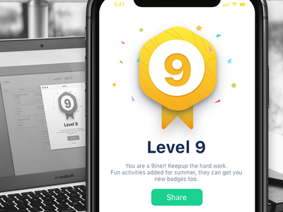 Level badge level gamification diary india client app ui ux education badge saurabhuxd