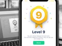 Level badge