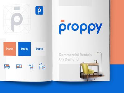 Proppy - Brand guide WIP rental exploration mock guide brand proppy saurabhuxd