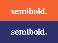 Semibold Typemark