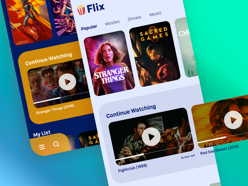 Video Streaming Platform watch ios app music shows movies video ux india saurabhj