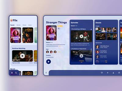 TV Show Details ipad share like movie show ott design app saurabhuxd india
