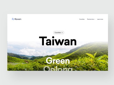 Scroll for tea type clean website design interface header hero ui ux minimal webdesign