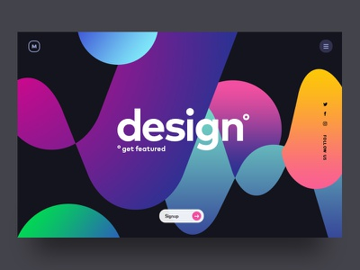Header user interface ux ui lavalamp colourful colors header hero gradient webdesign