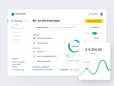 ABN-AMRO banking redesign clean webdesign dashboard ux ui interface financial bank internet banking