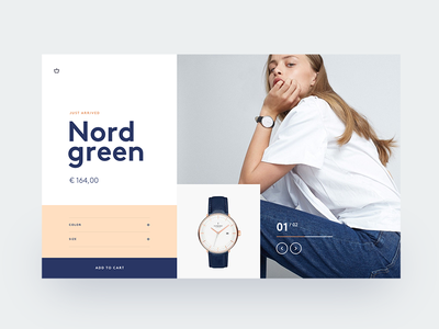Watch shop header minimal watch card hero design inspiration webdesign ux