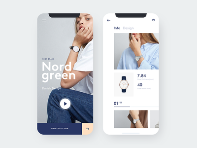 Watch mobile responsive mobile e-commerce shop minimal watch hero design inspiration webdesign ui ux