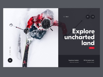 Uncharted land website app design interface header hero ux ui minimal webdesign