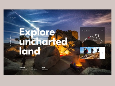 Uncharted 2 clean website app design interface header hero ux ui minimal webdesign