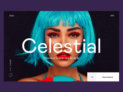 Celestial clean website app design interface header hero ux ui minimal webdesign