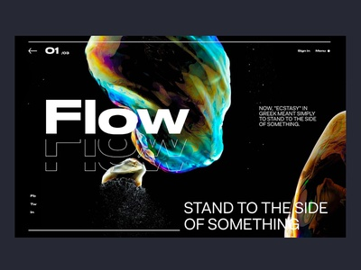 Flow website app design interface header hero ui ux minimal webdesign