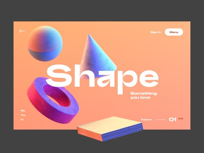 Shape something you love website app design interface header hero ui ux minimal webdesign
