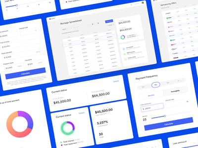 Loanerr product design software product app modules dashboard ux ui