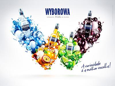 Wyborowa - Verdadeira Wódka da Polonia wyborowa vodka advertising digital art graphic design