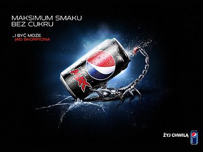 Pepsi Max  pepsi max digital art graphic design scorpion pepsi advertising