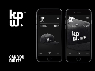 KPW Logotype can you dig it e-commerce streetwear branding snapback logotype