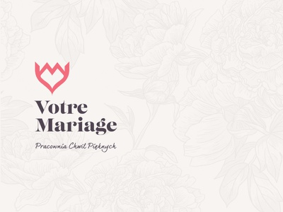 Votre Mariage - Studio Of Beautiful Moments flowers logo branding marriage wedding