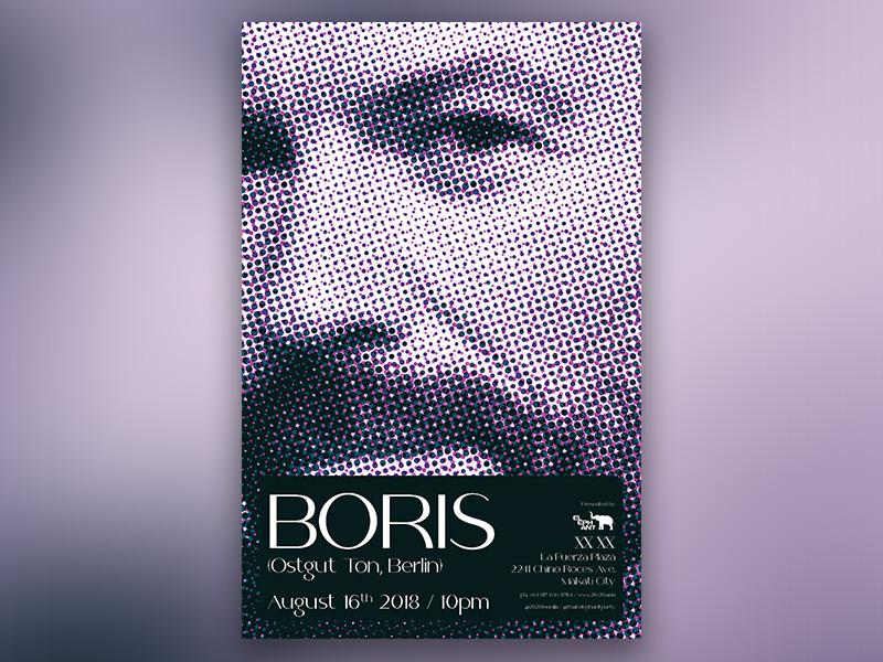 Boris (Ostgut Ton, Berlin) Event Poster by Jordan Han on