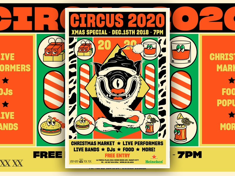 Circus 2020 - December 2018 - D&AD festival branding art direction graphic design illustration poster