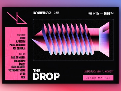 The Drop x Youngblood - D&AD illustration typography design branding graphic club art direction music poster graphic design