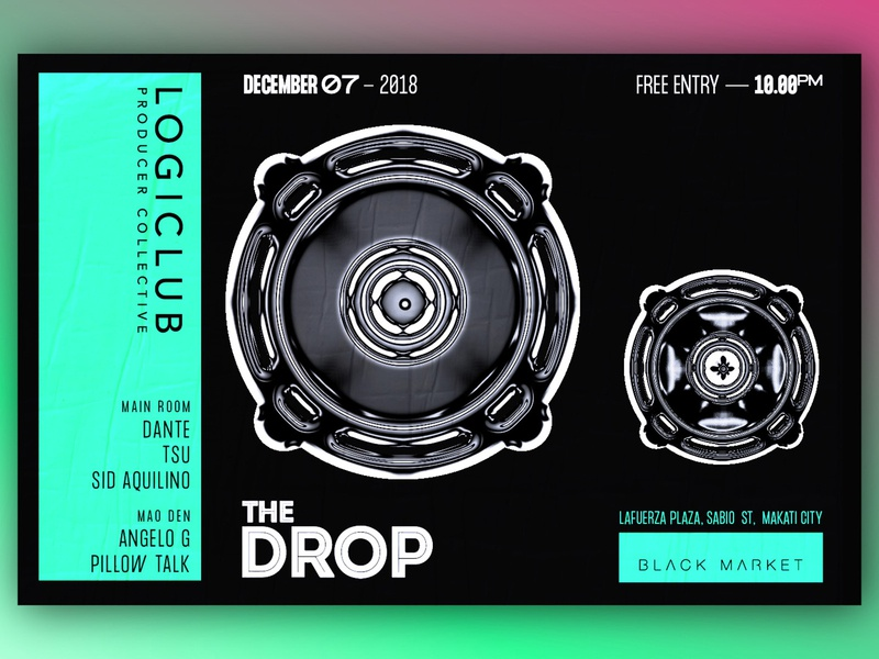 The Drop x Logiclub D&AD typography design branding club graphic art direction music poster graphic design