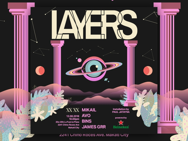 Layers - D&AD manila philippines logotype logo typography dance design branding graphic club art direction music poster graphic design